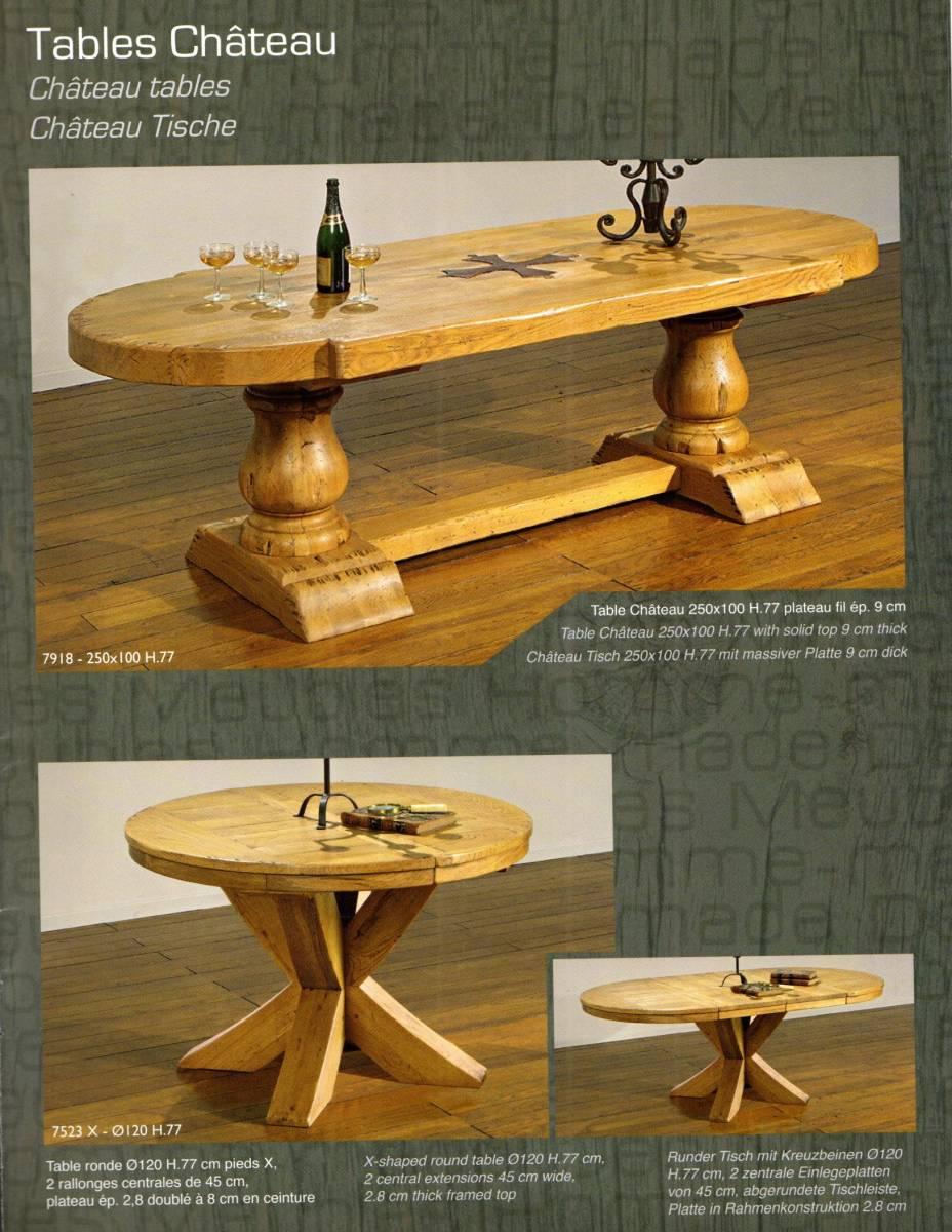 TABLE DE FERME EN CHÊNE MASSIF , Monastère , Abbaye , Château , et ...